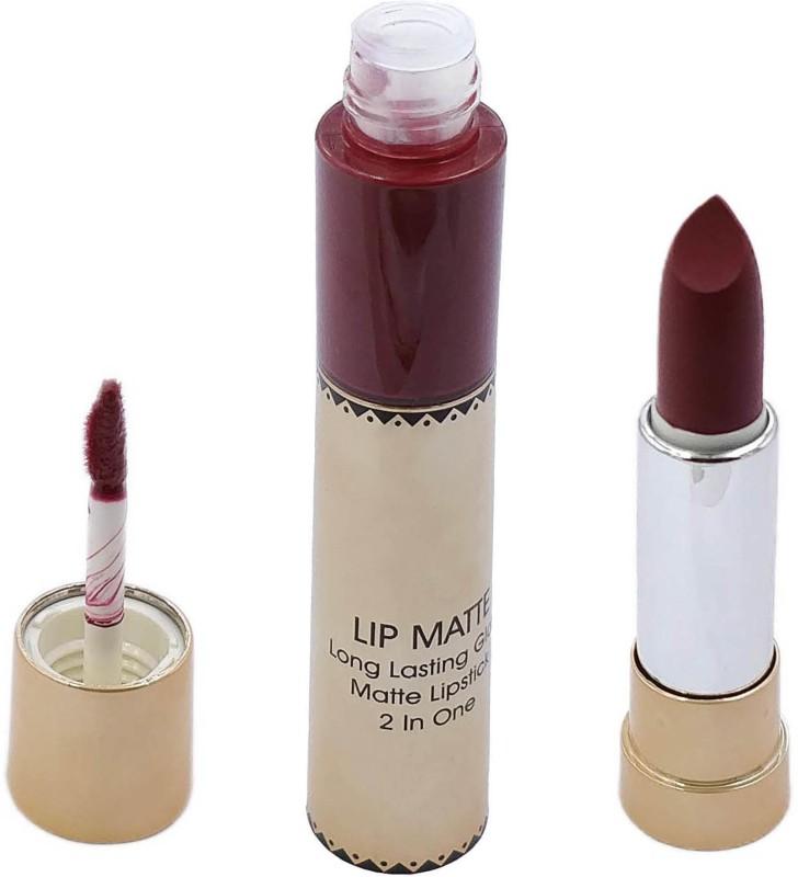 One Personal Care 2 in 1 Matte Lipstick (20)(Mahogany, 12 g)