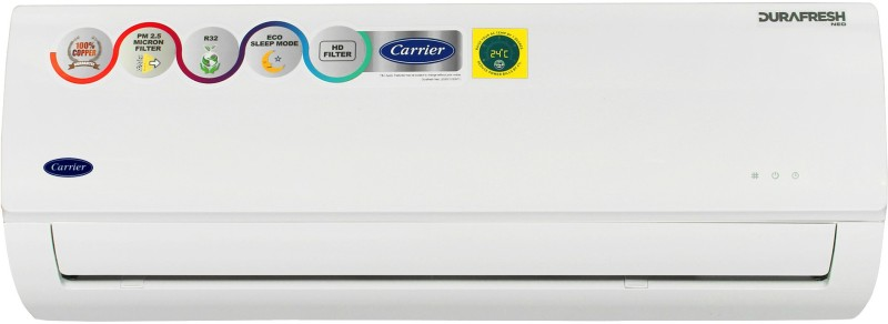Carrier 1 Ton 3 Star Split AC - White(Durafresh Neo CAS12DN3R39F0, Copper Condenser)