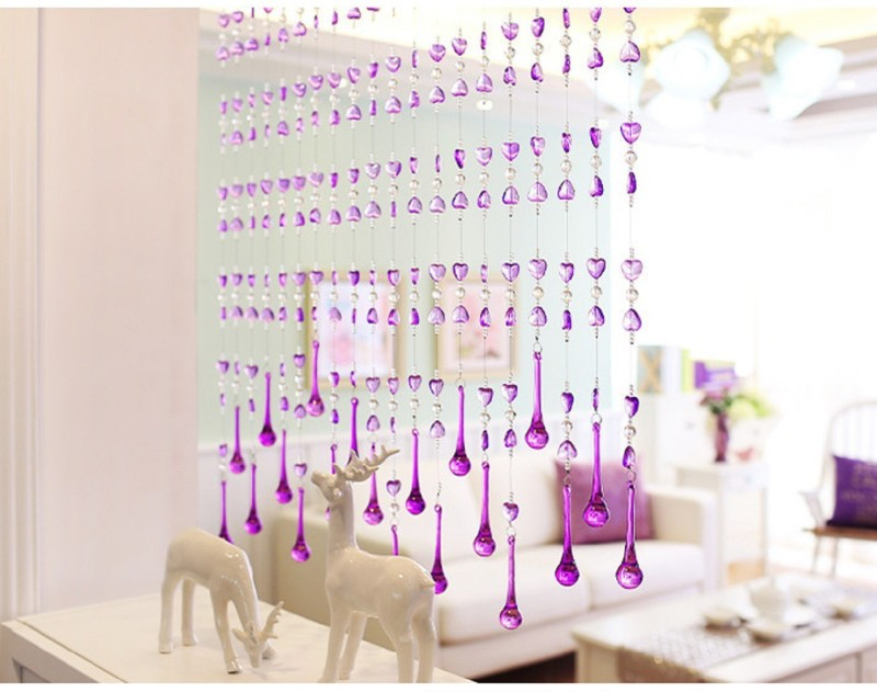 check MRP of string curtains for living room D4P 20 String Crystal String Bead Hanging Curtain