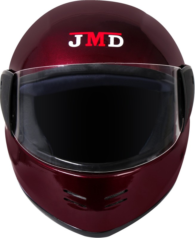 JMD Elegant Full Face Helmet (WINE RED, L) Motorbike Helmet(WINE RED)