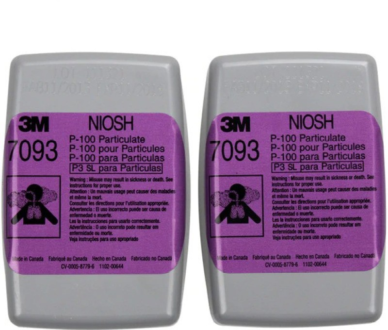 3M P100 7093 Particulate Filter Pack of 2 Mask and Respirator