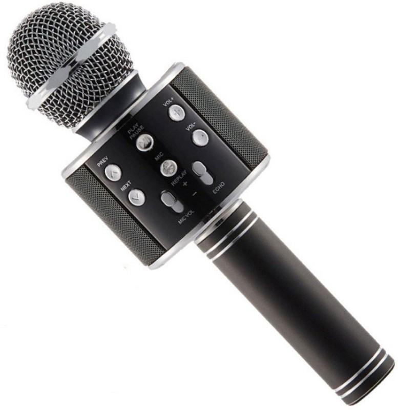 KLUZIE WS-858 ROCK SOUND Wireless Handheld Bluetooth Mic with Speaker Audio Microphone