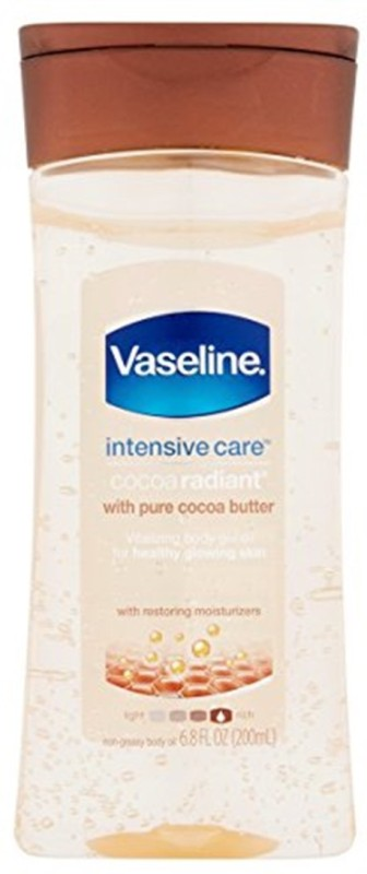 Vaseline Intensive Care Cocoa Radiant Body Gel Oil, 6.8 Ounce(201 ml)