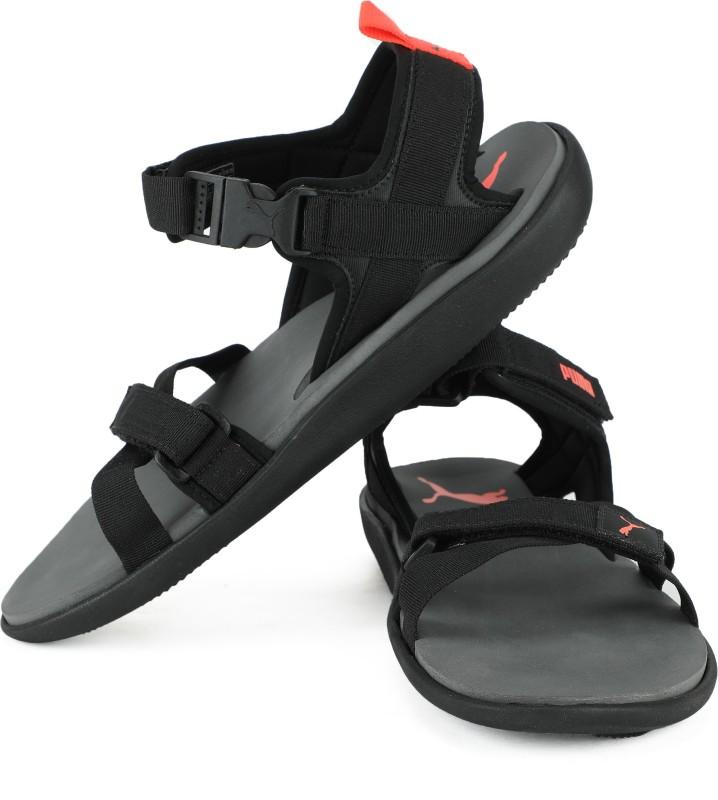 Puma Men Black Sports Sandals- Buy