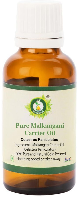 R V Essential Pure Malkangani Carrier Oil 30ml- Celastrus Paniculatus (100% Pure and Natural Cold Pressed)(30 ml)