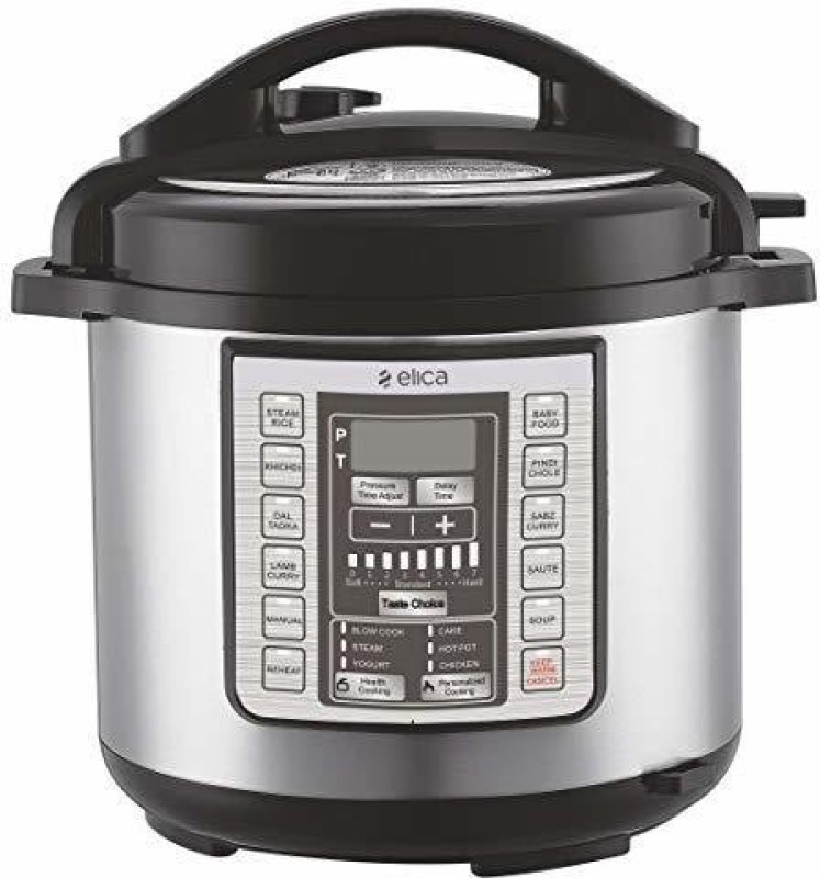Elica cooker 6 liter Electric Rice Cooker with Steaming Feature(6 L, Silver)