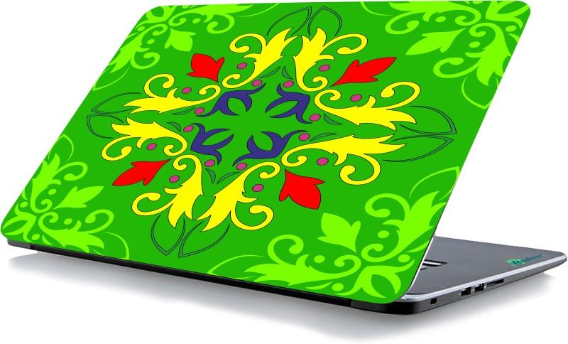 RADANYA Green Printed Laptop Skin 90049 Vinyl Laptop Decal 15.6