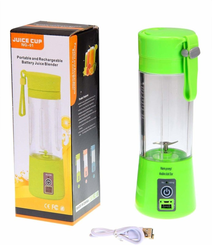 DESTRON ENTERPRISE NG-01 USB Portable Juicer (380 ML) with Rechargeable Battery (2000 mAh) 0 Juicer Mixer Grinder(Green, 1 Jar)
