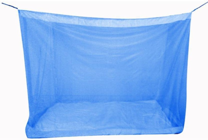 Dingga Decor Nylon Adults Nylon 1 Pcs. Single Bed Mosquito Net (Blue) Mosquito Net(Blue)