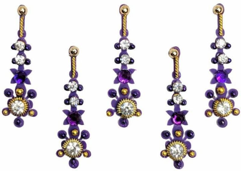 Comet Busters Designer Party Wear Bindi Forehead Purple Bindis(Indian Traditional Designer Bindi)