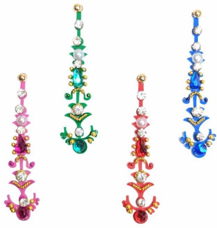 Comet Busters Bridal Collection Crystal Bindi Forehead Multicolor Bindis(Indian Traditional Designer Bindi)