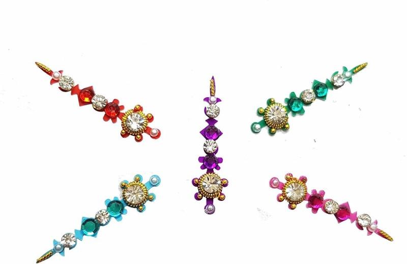 Comet Busters Multi color Designer Bridal Bindi for Women, Ladies, Brides, Girls, wedding, parties Multicolor Bindis(Traditional Bindi)