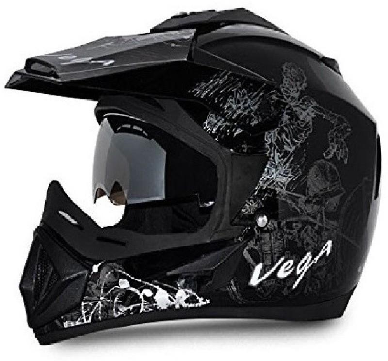 VEGA moto-0118 Motorbike Helmet(Black)