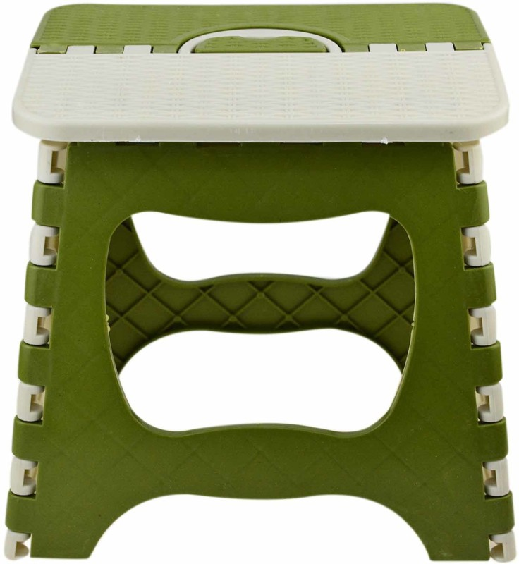 AVMART 9 Inch Super Strong Folding Portable Stool/Chair for Adults & Kids, Kitchen Stepping Stool, Garden Step Stool Living & Bedroom Stool(Green)
