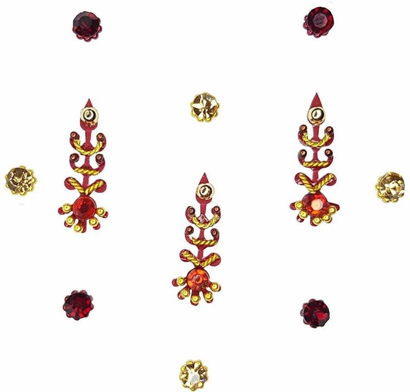 Comet Busters Indian Traditional Designer Bindi Forehead Multicolor Bindis(Indian Traditional Designer Bindi)