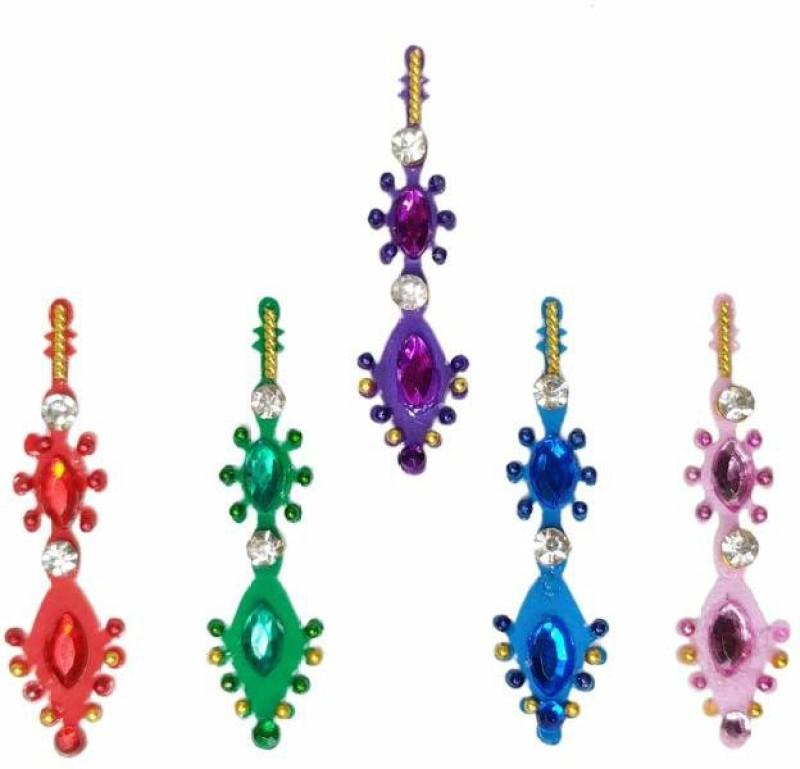 Comet Busters Party Wear stone Bindi Forehead Multicolor Bindis(Indian Traditional Designer Bindi)