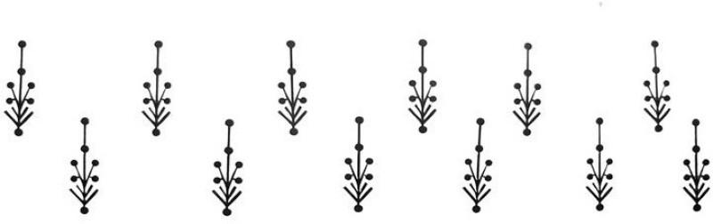 Comet Busters Black Designer Bindis Forehead Black Bindis(Indian Traditional Designer Bindi)
