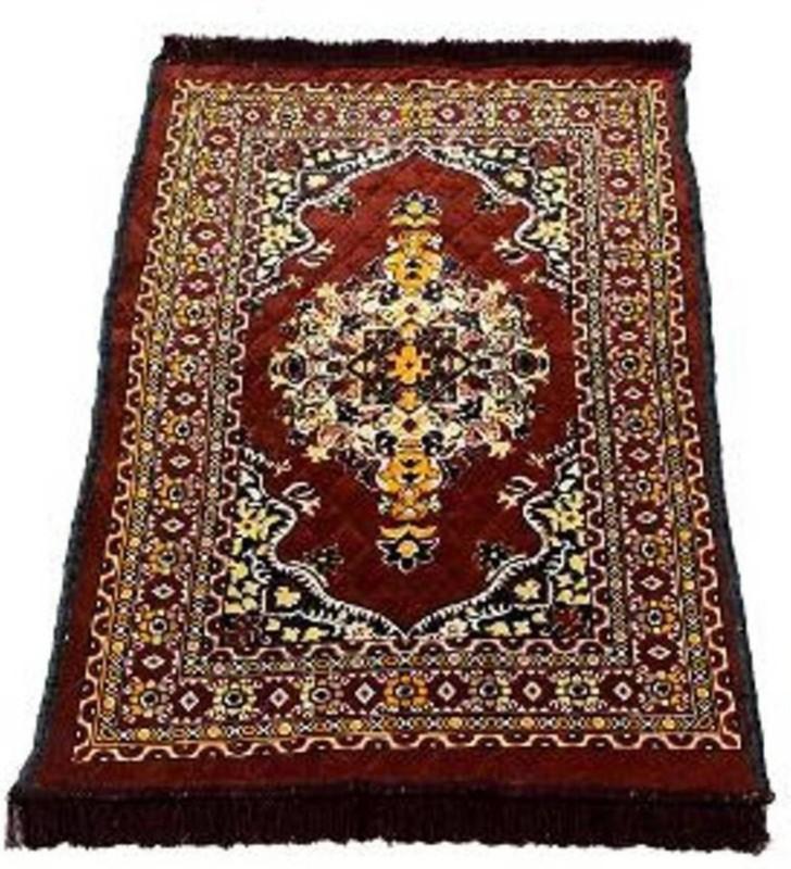 SHIVTEXTILES Polyester Prayer Mat(Coffee, Large)