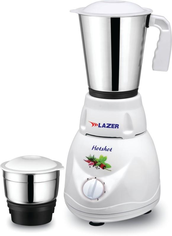 Lazer HOTSHOT 2 JARS 450 Mixer Grinder(White, 2 Jars)