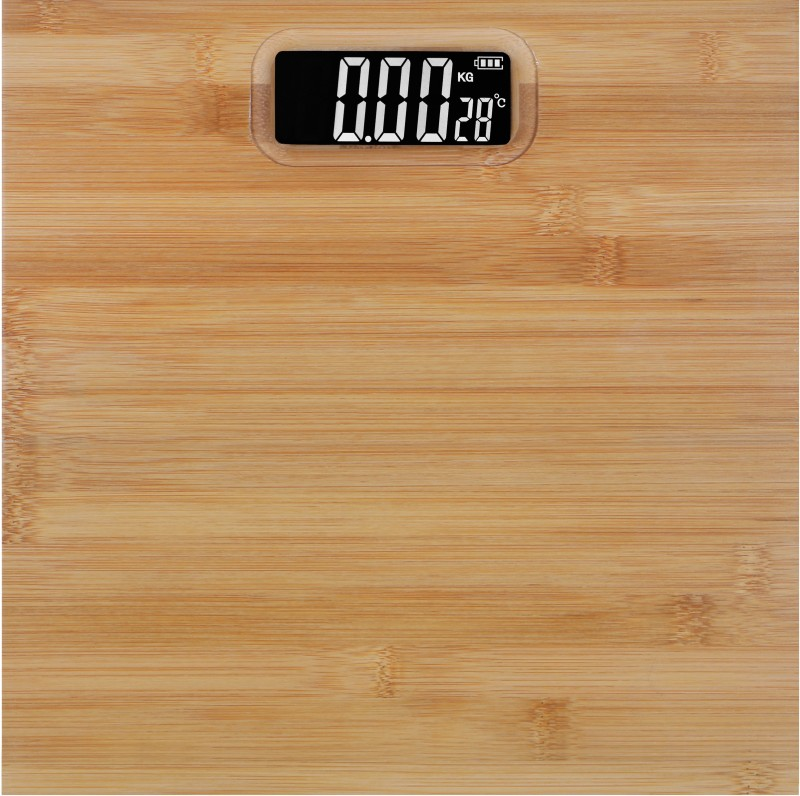 GVC Ultra-Lite Wooden Personal Weighing Scale(Wooden Tan)