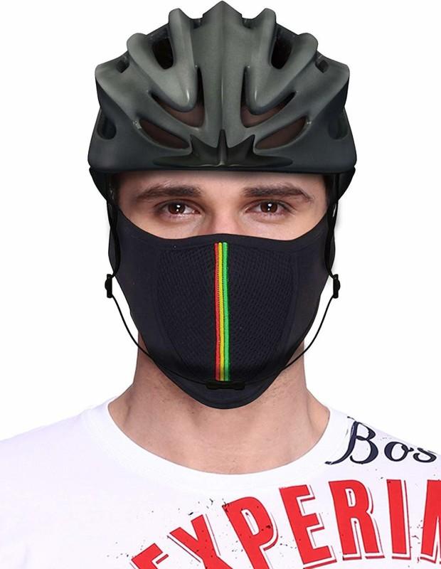 JMD Black Bike Face Mask for Men & Women(Size: Free, Balaclava)