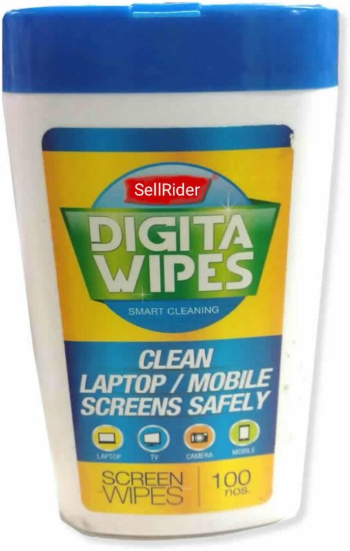 SellRider Best Quality Screen Cleaning DIGITA WIPES Screen Cleaner - 100 Pcs- 1 PACK for Computers, Gaming, Laptops, Mobiles(Screen Cleaner)