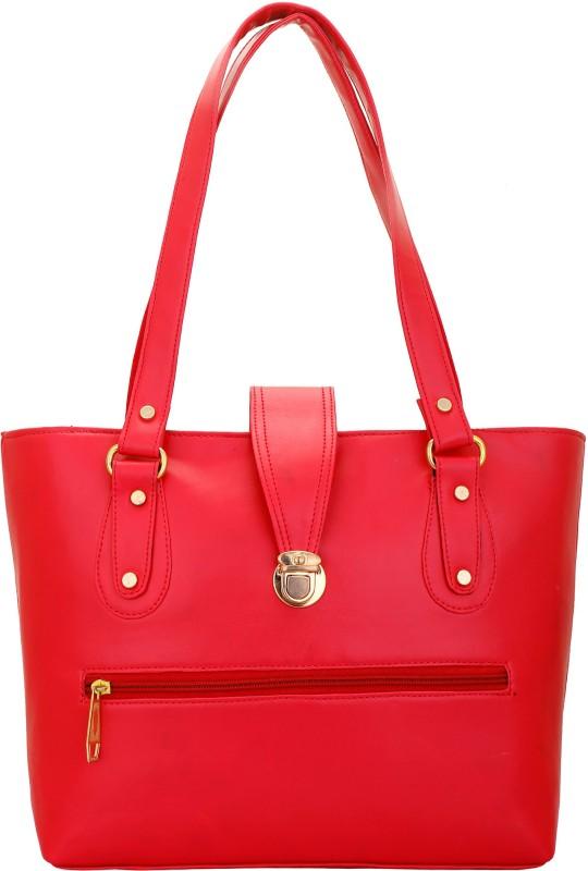 Lady bar Women Red Hand-held Bag