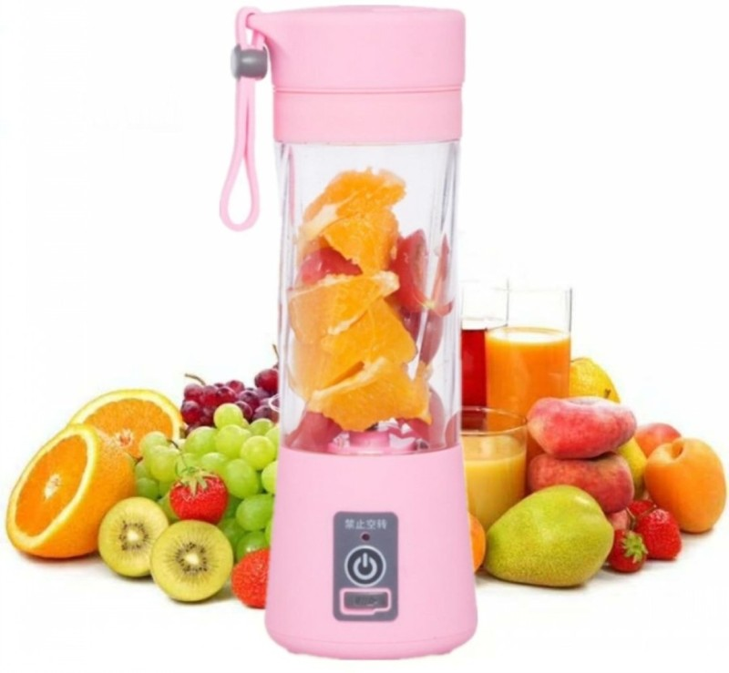 Vingaboy Juicer 0018 Portable UBS Juicer Mixer Grinder 12 Juicer Mixer Grinder(Pink, 1 Jar)