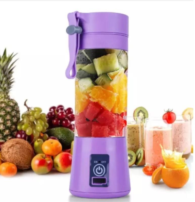 Vingaboy Juicer 0019 Portable UBS Juicer Mixer Grinder 12 Juicer Mixer Grinder(Purple, 1 Jar)