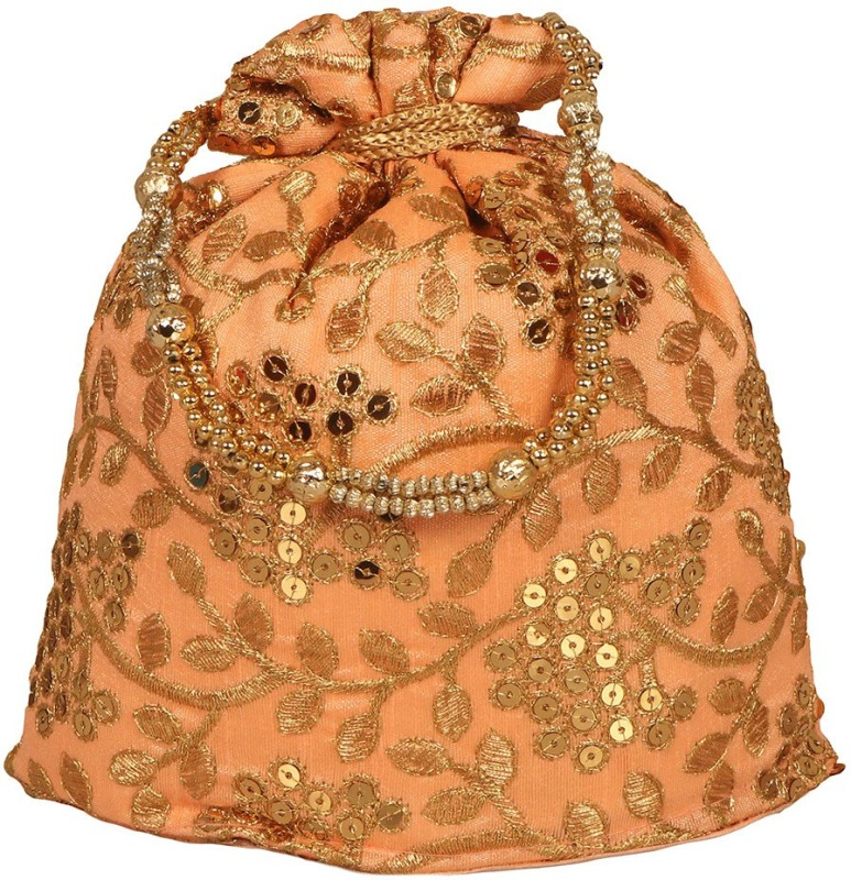 Your Pretty Closet Ethnic Rajasthani Potli Bag For Women, Bridal, Casual, Party, Wedding (Pink) Potli(Pink)
