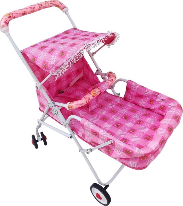 Confiado Activity Walker With Parent Rod(Pink)
