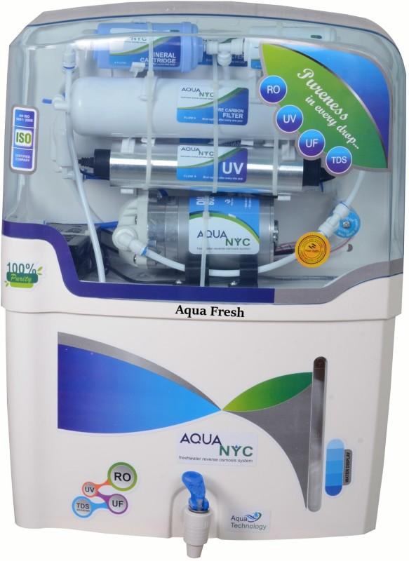 Aqua Fresh NYC blue mineral 15 L RO + UV + UF + TDS Water Purifier(White, Blue)