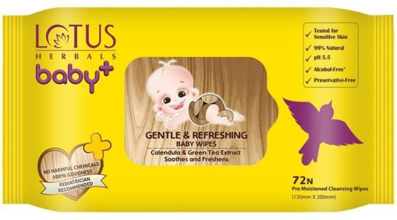 Lotus Herbals Gentle & Refereshing Baby Wipes(72 Wipes)