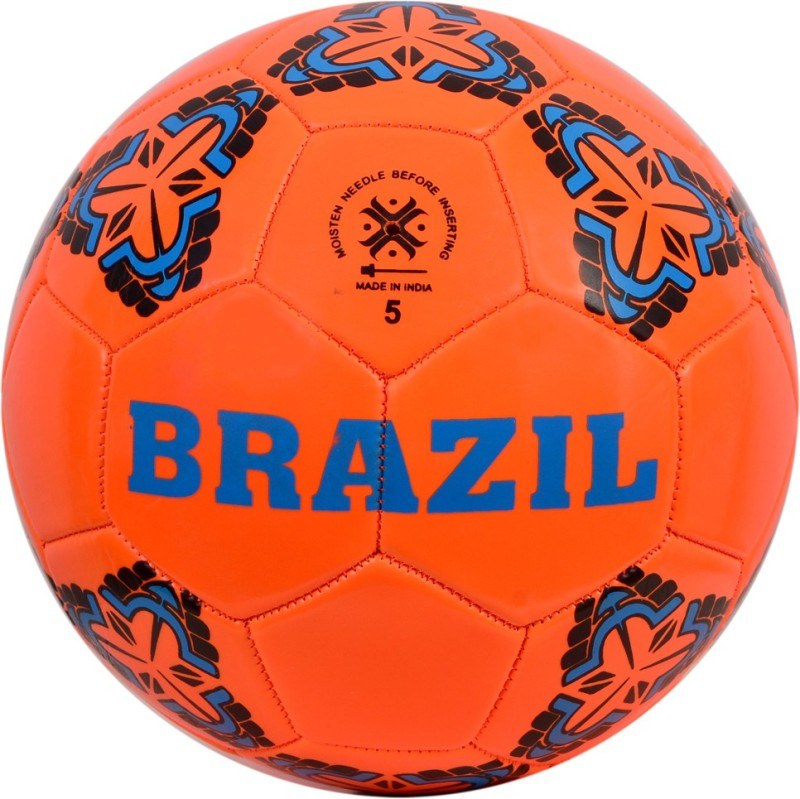 Heureux BRAZIL MACHINE STITCHED FOOTBALL SIZE 5 Football - Size: 5(Pack of 1, Pink)