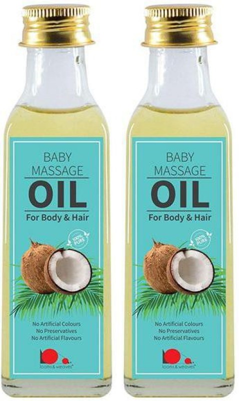 looms & weaves Hand Made Virgin Coconut Oil for Baby Care - 200 ml (Free Delivery) Hair Oil(200 ml)