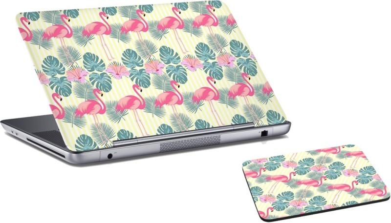 RADANYA Swan Laptop Skin and Mouse Pad Combo Set RDLSPD02197 Combo Set(Multicolor)