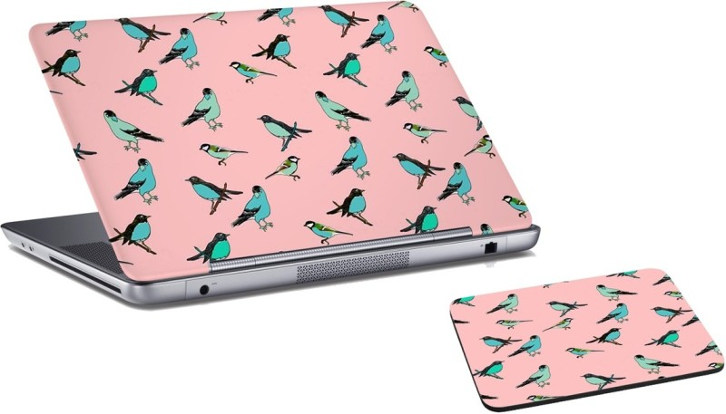 RADANYA City Laptop Skin And Mouse Pad Combo Set RD0765 Combo Set(Multicolor)