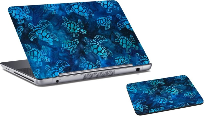 RADANYA Tortoise Laptop Skin and Mouse Pad Combo Set RDLSPD0355 Combo Set(Multicolor)