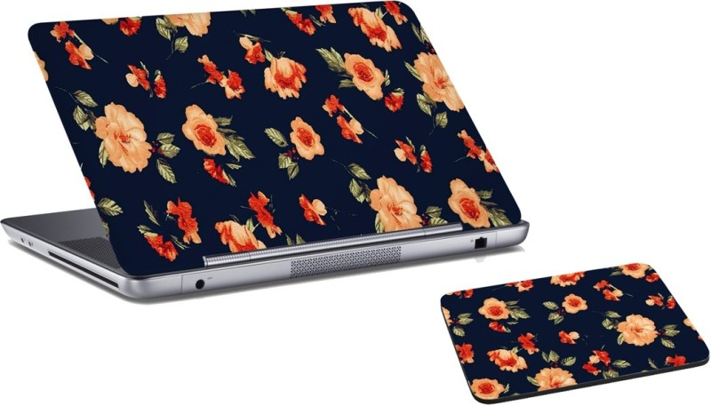 RADANYA Floral Laptop Skin and Mouse Pad Combo Set RDLSPD0383 Combo Set(Multicolor)