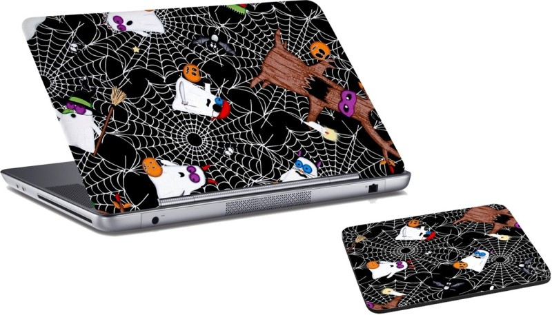 RADANYA Halloween Laptop Skin And Mouse Pad Combo Set RD06140 Combo Set(Multicolor)