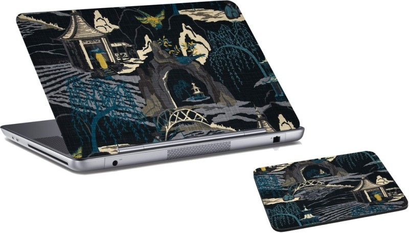 RADANYA Nature Laptop Skin And Mouse Pad Combo Set RD04105 Combo Set(Multicolor)