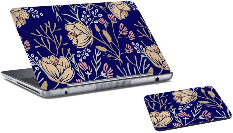 RADANYA Rose Laptop Skin and Mouse Pad Combo Set RDLSPD02109 Combo Set(Multicolor)