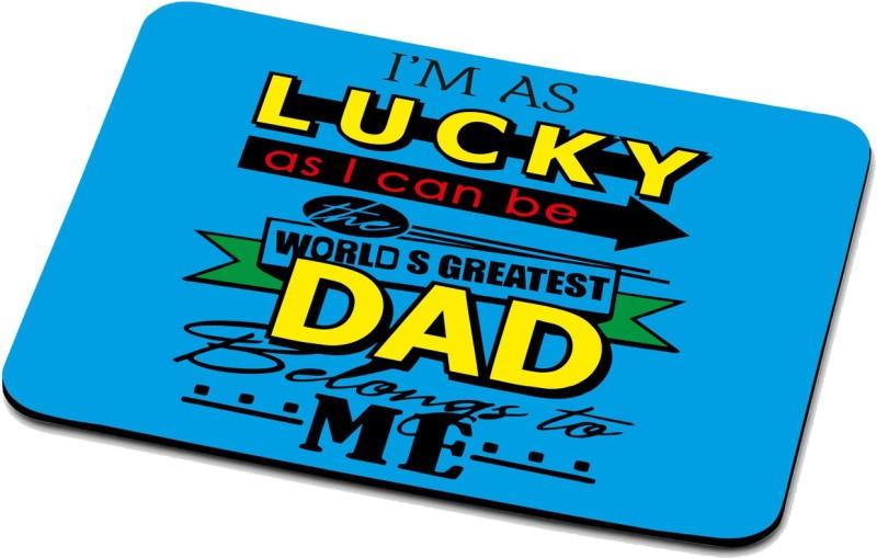 RADANYA My Dad My Hero Mouse Pad 1517 Mousepad(Multicolor)