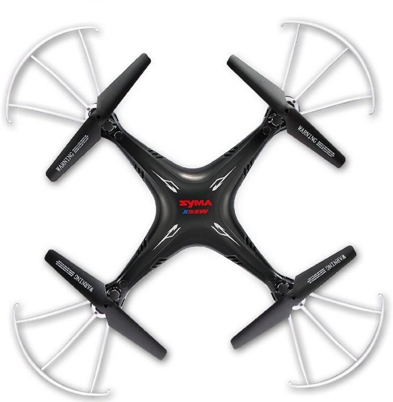 SYMA X5SW FPV Live Video Streaming Wi-Fi Camera 2.4G 4CH 6-Axis Gyro RC Headless Quadcopter(Black)