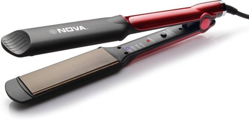 Nova Temperature Control Professional NHS 870 Hair Straightener(Black/Red)
