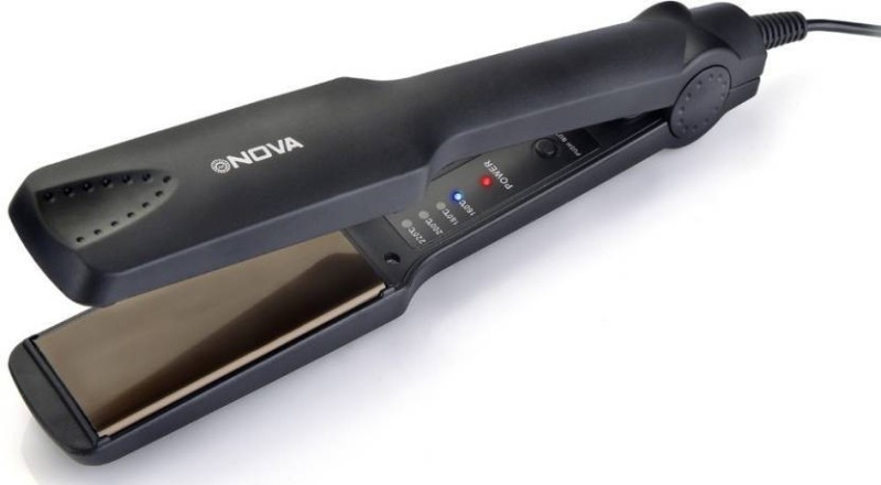 Nova Temperature Control Professional NHS 860 Hair Straightener(Black)