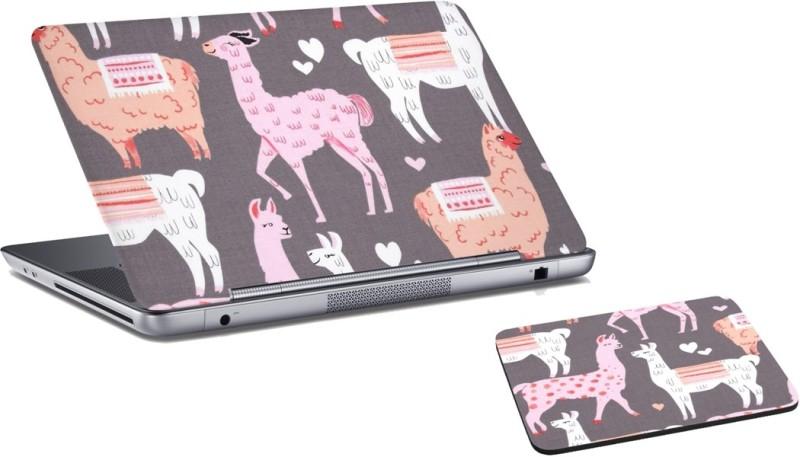 RADANYA Sheep Laptop Skin and Mouse Pad Combo Set RDLSPD03140 Combo Set(Grey)