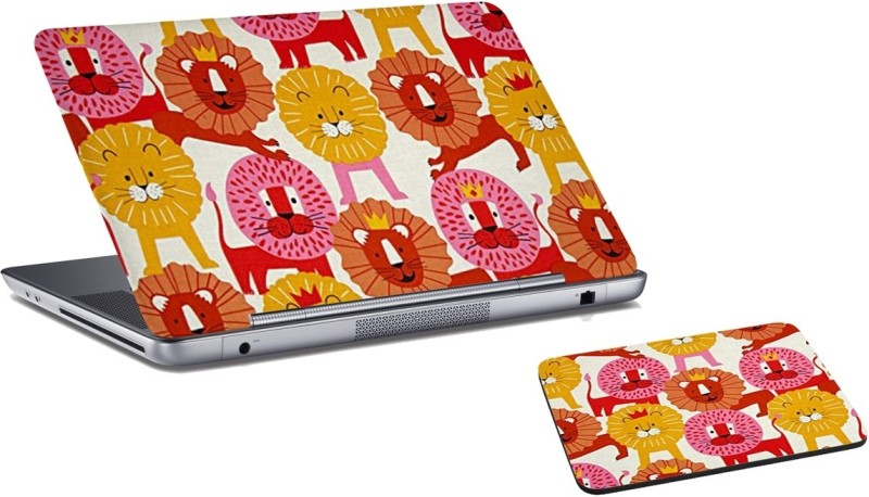 RADANYA Lion Laptop Skin And Mouse Pad Combo Set RD08128 Combo Set(Multicolor)