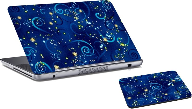 RADANYA Abstract Laptop Skin And Mouse Pad Combo Set RD0450 Combo Set(Multicolor)