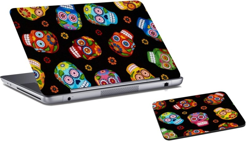 RADANYA Halloween Laptop Skin and Mouse Pad Combo Set RDLSPD03168 Combo Set(Multicolor)